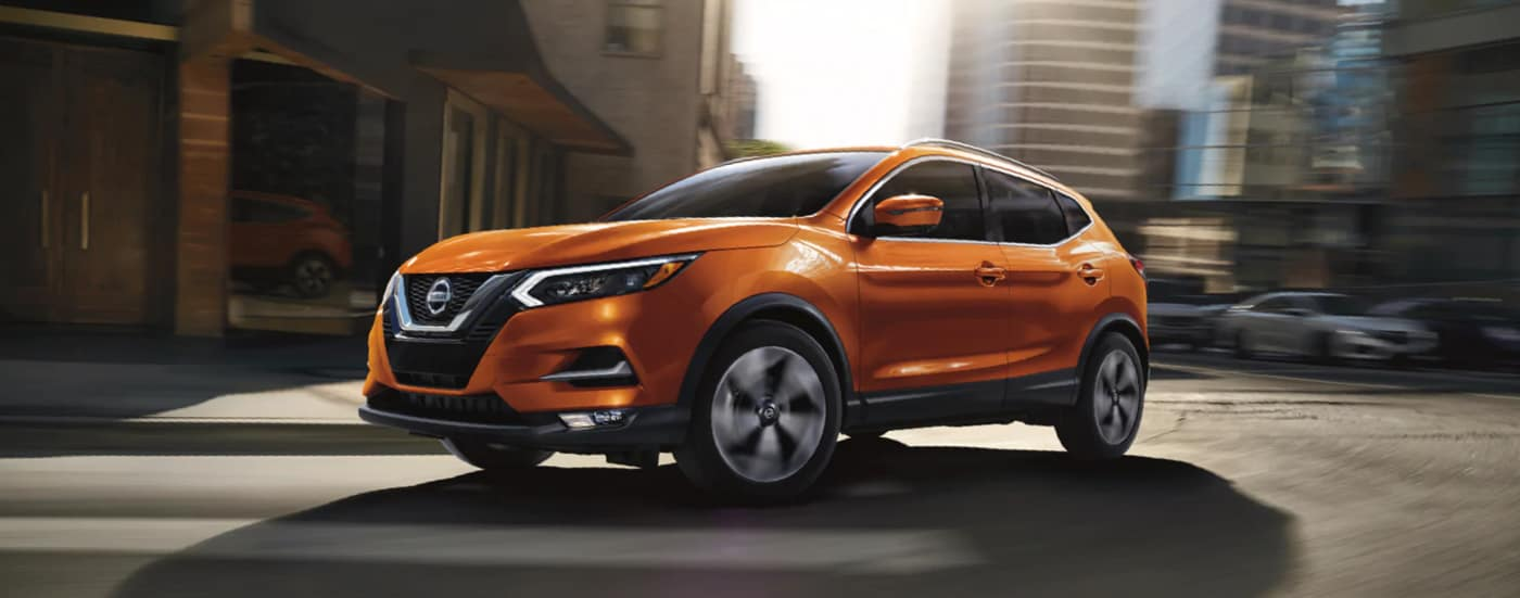 2020 Nissan Rogue turning a corner
