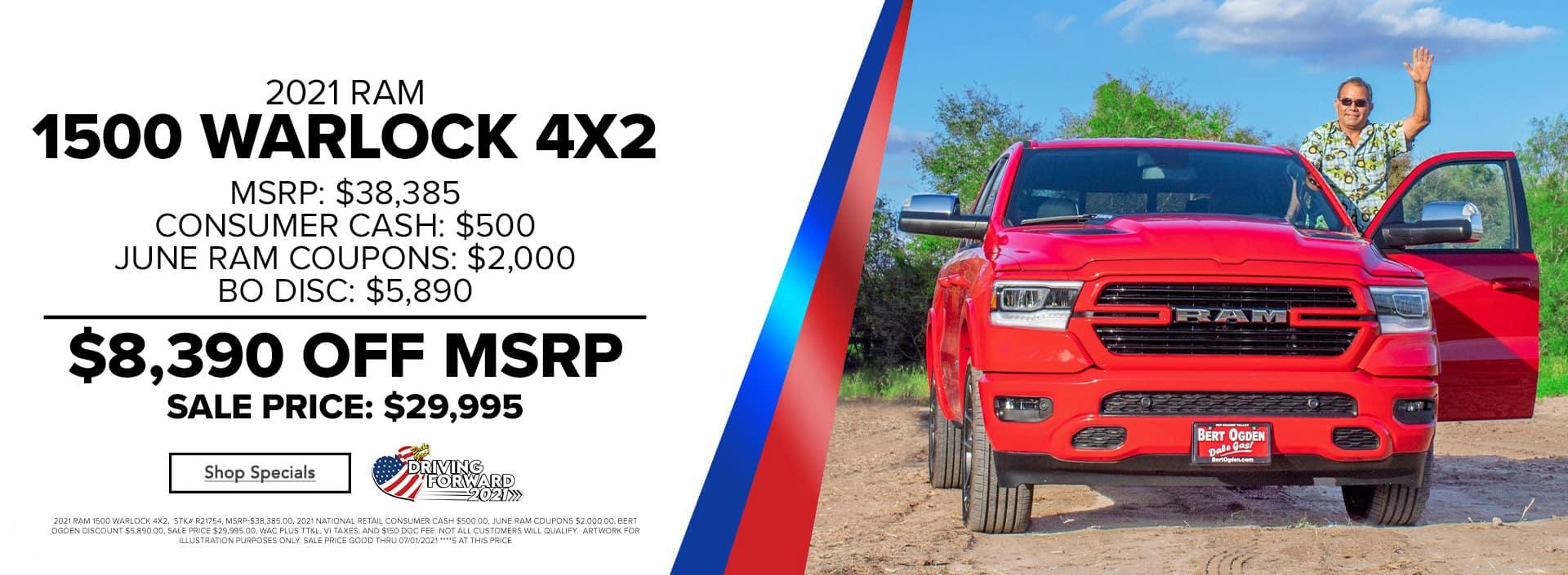 2021 Ram 1500 Warlock | Bert Ogden Auto Group