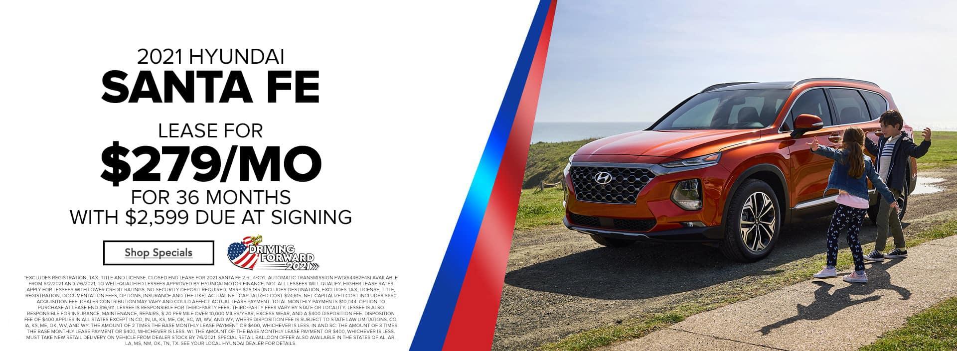 Get Great Lease Deals On The 2021 Hyundai Santa Fe At Bert Ogden