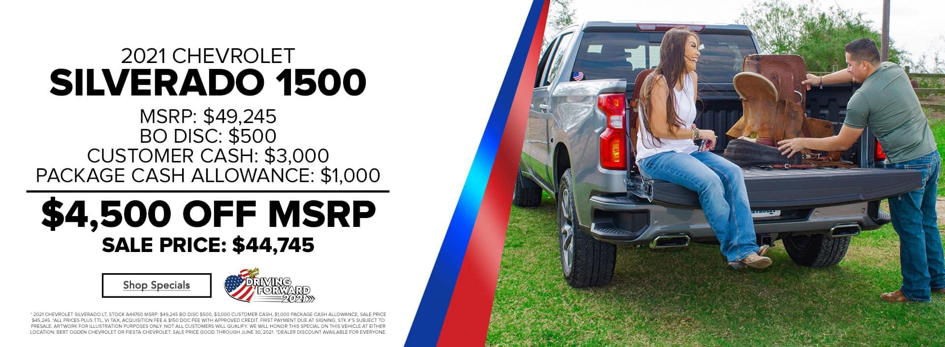 Save Thousands Off A New Chevrolet Silverado 1500 | Bert Ogden Auto Group