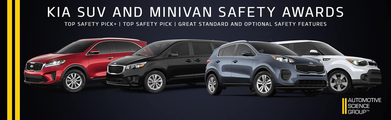 Kia SUV and Minivan Safety Awards | Bert Ogden Harlingen Kia | Harlingen, TX