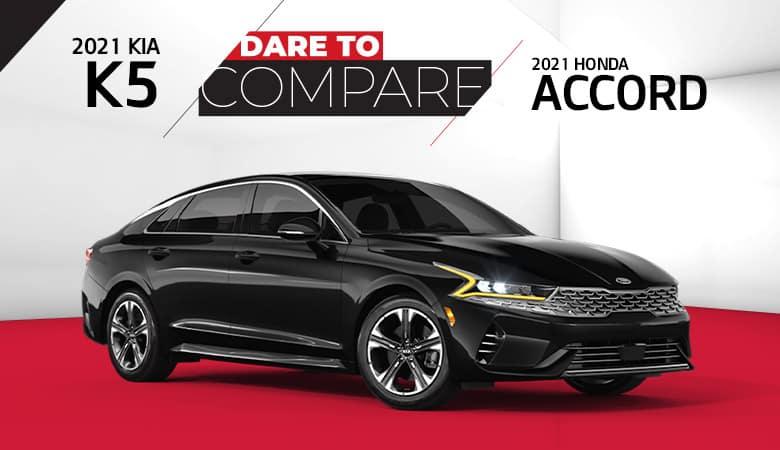 2021 Kia K5 vs 2020 Honda Accord | Bert Ogden Harlingen Kia | Harlingen, TX
