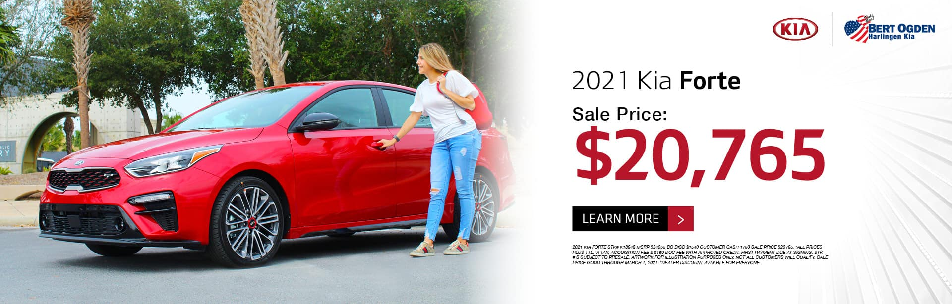 2021 Kia Forte February 2021 Offer - Bert Ogden Harlingen Kia in Harlingen, Texas