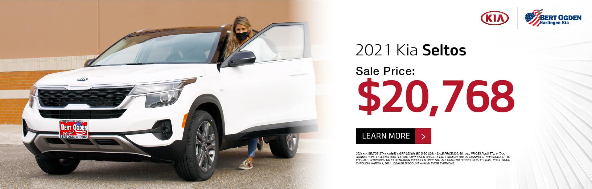 2021 Kia Seltos February 2021 Offer - Bert Ogden Harlingen Kia in Harlingen, Texas