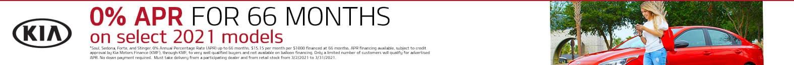 0% APR For 66 Months On Select 2021 Kia Models - Bert Ogden Harlingen Kia in Harlingen, Texas