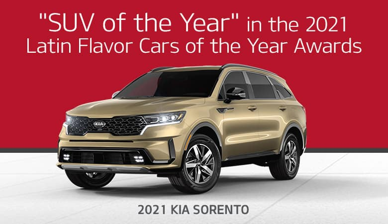 """SUV of the Year"" in the 2021 Latin Flavor Cars of the Year Awards: 2021 Kia Sorento - Bert Ogden Harlingen Kia in Harlingen, Texas"