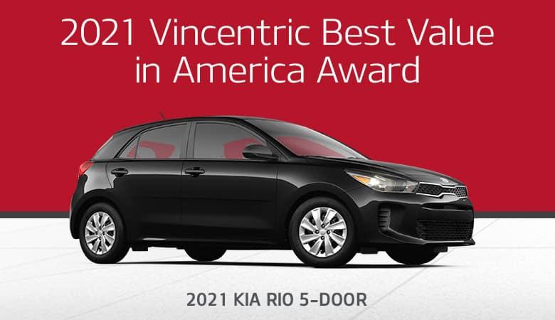2021 Vincentric Best Value in America Award: 2021 Kia Rio 5-Door - Bert Ogden Harlingen Kia in Harlingen, Texas