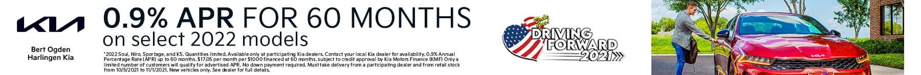 0.9% APR on Select 2022 Kia Models | Bert Ogden Harlingen Kia in Harlingen, Texas