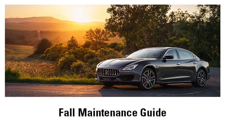 Fall Maintenance Guide | Bert Ogden Maserati | Mission, TX