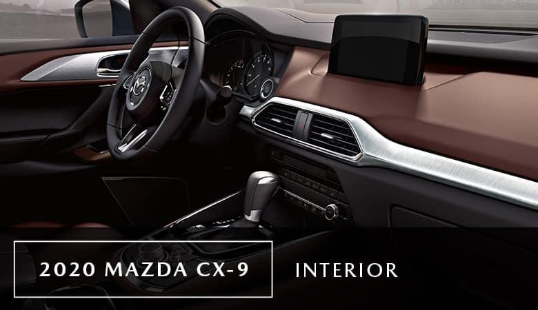 The interior of the 2020 Mazda CX-9 - Bert Ogden Mazda Edinburg in Edinburg, TX