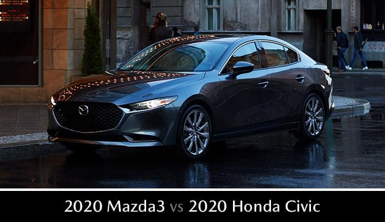 2020 Mazda3 Sedan vs. 2020 Honda Civic Sedan - Bert Ogden Mazda Edinburg in Edinburg, Texas