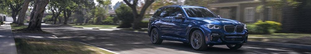 Blue BMW X3
