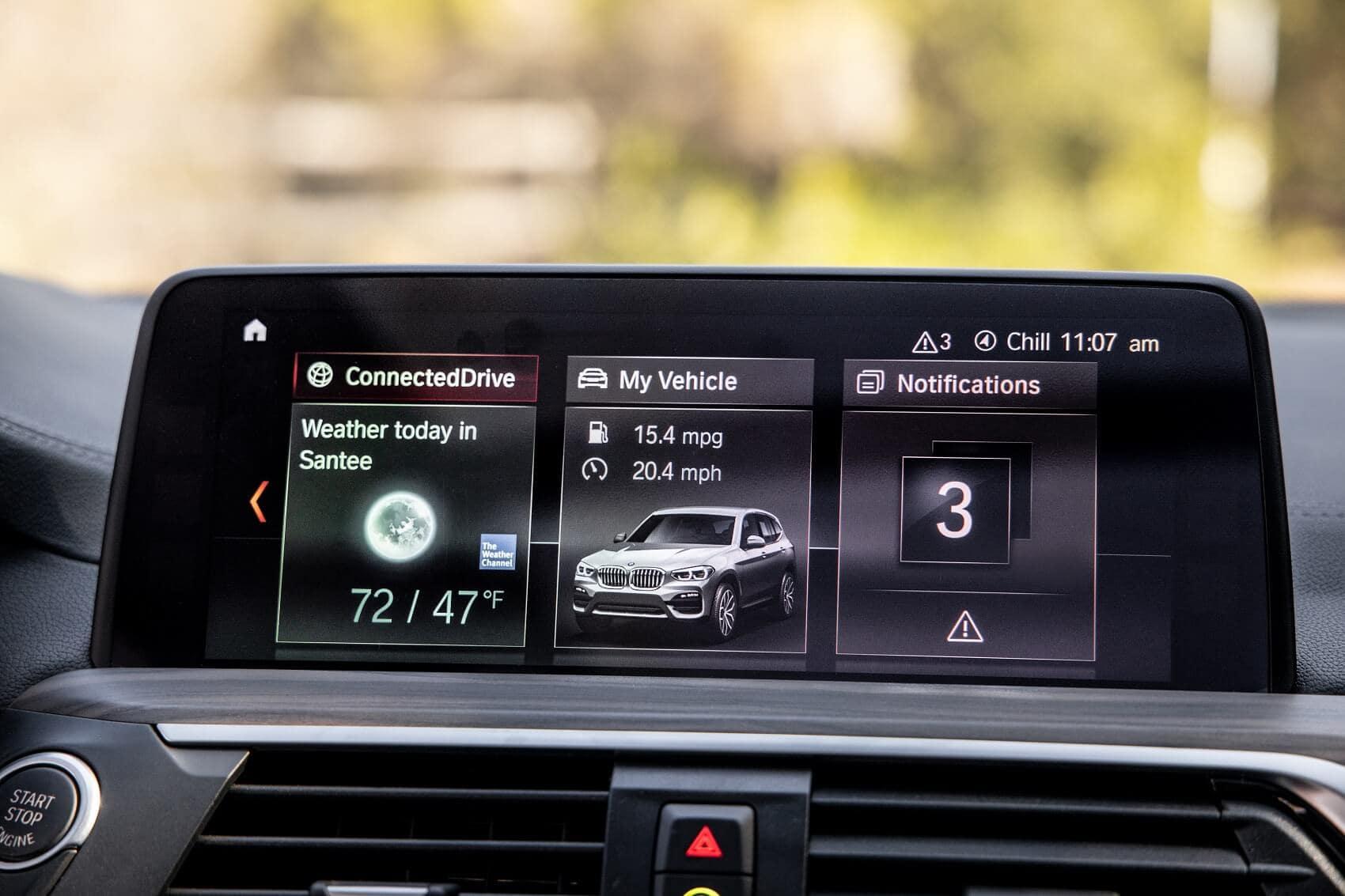 BMW X3 Interior 8.8-inch multimedia touchscreen