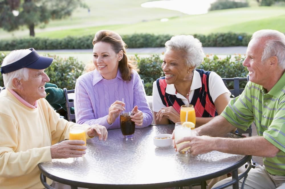 Friends Enjoying Themselves at Country Club