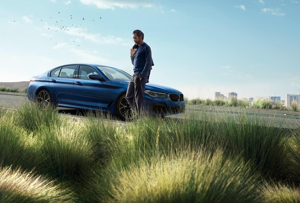BMW 5 Series Blue