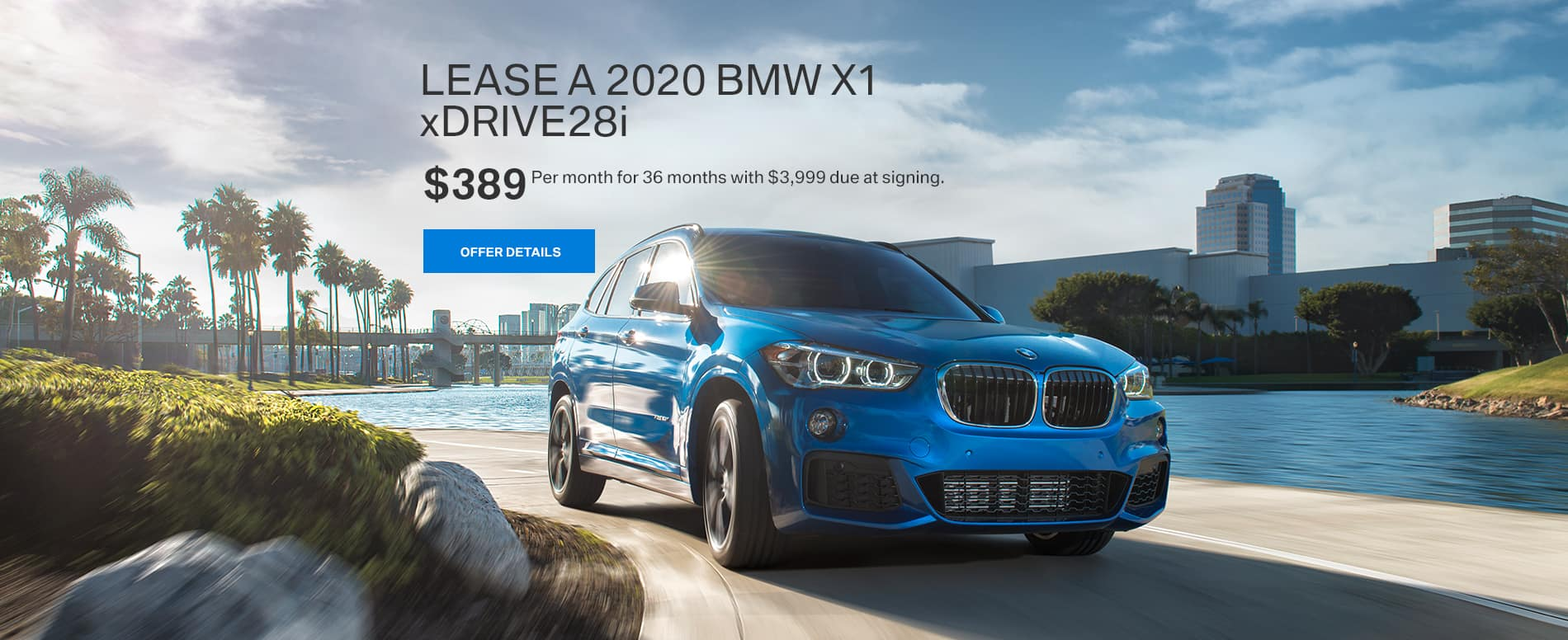 Lease a 2020 BMW X1 xDRIVE28i for $389 per month at BMW of Fort Walton Beach