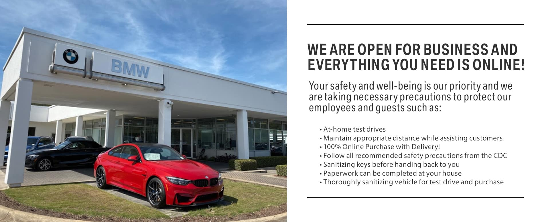 Safety is our priority at BMW of Fort Walton Beach