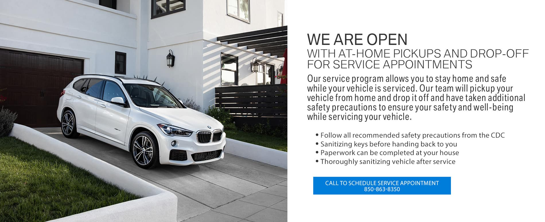 At-home pickups and drop-offs for service appointments at BMW of Fort Walton Beach