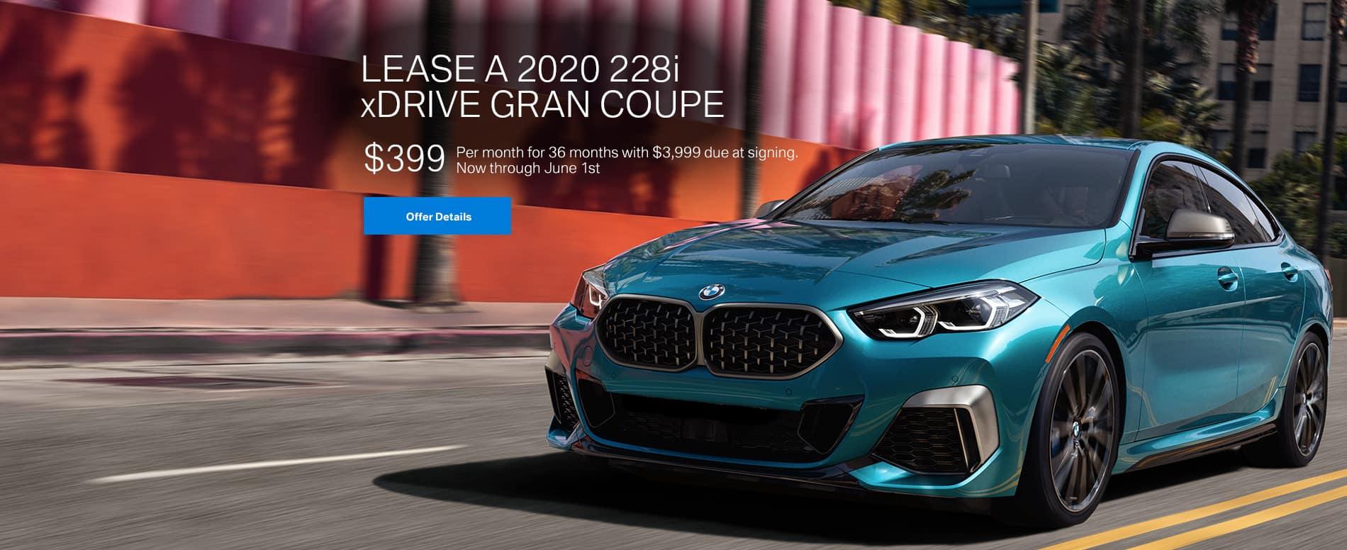 Lease a 2020 228i xDrive Gran Coupe $339/mo.