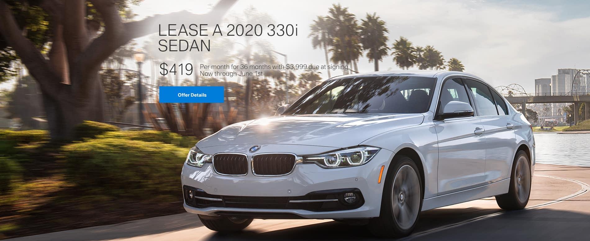 Lease a 2020 330i Sedan $419/mo.