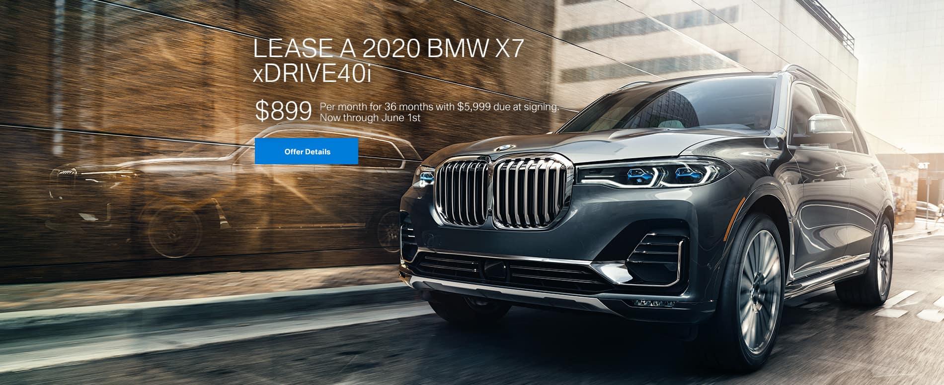 Lease a 2020 BMW X7 xDrive40i $899/mo.