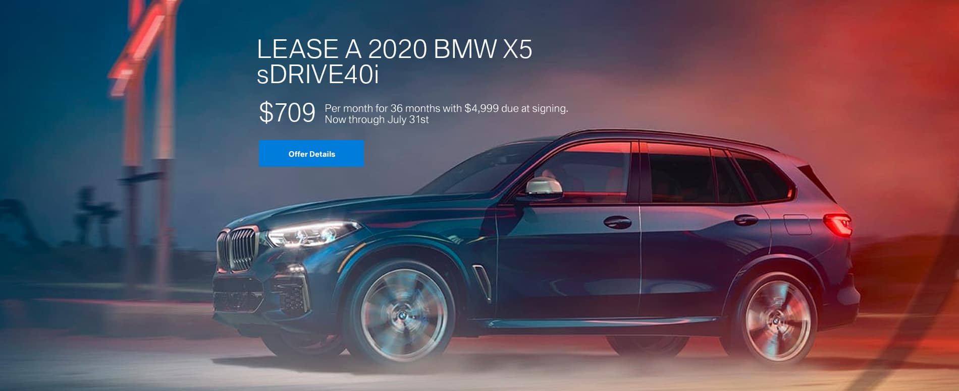 Lease a 2020 BMW X5 sDrive40i at BMW of Fort Walton Beach!