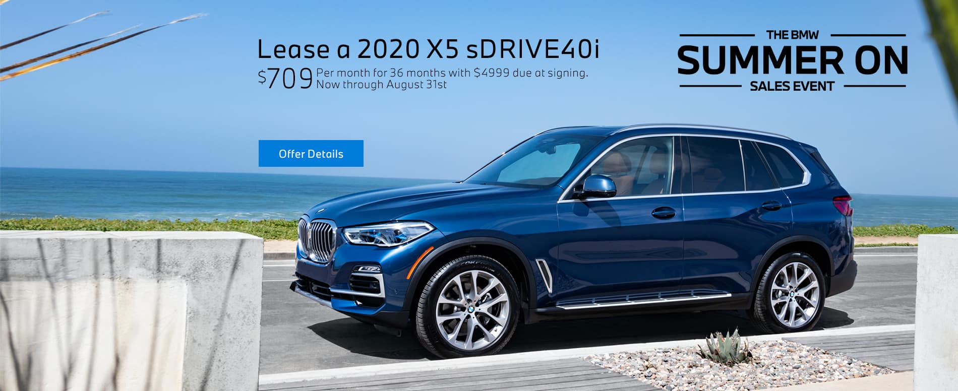 Lease a 2020 BMW X5 sDrive40i at BMW of Fort Walton Beach