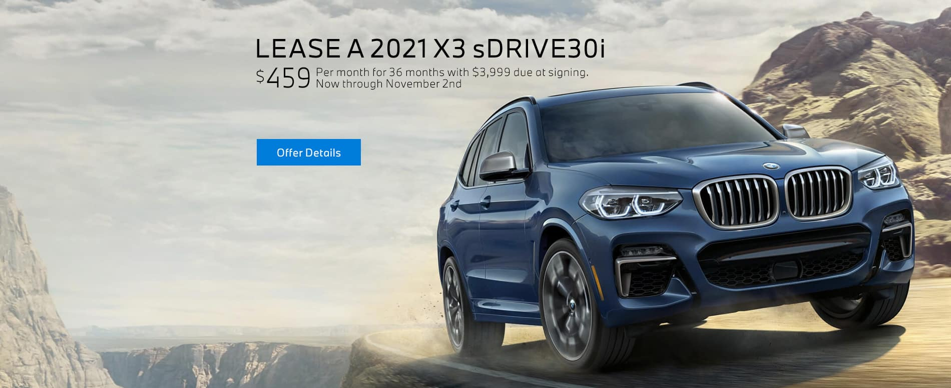 Lease a 2021 BMW X3 sDRIVE30i for $459/mo at BMW of Fort Walton Beach