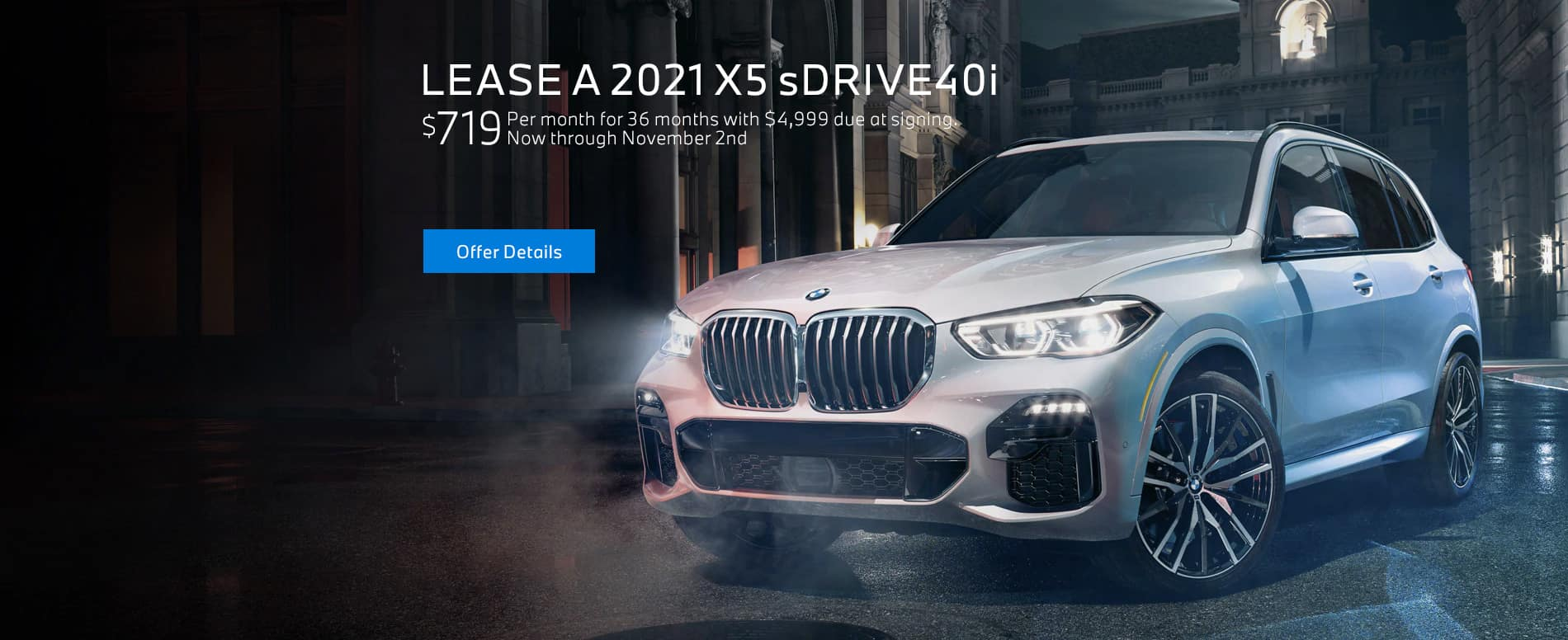 Lease a 2021 BMW X5 sDRIVE40i for $719/mo at BMW of Fort Walton Beach