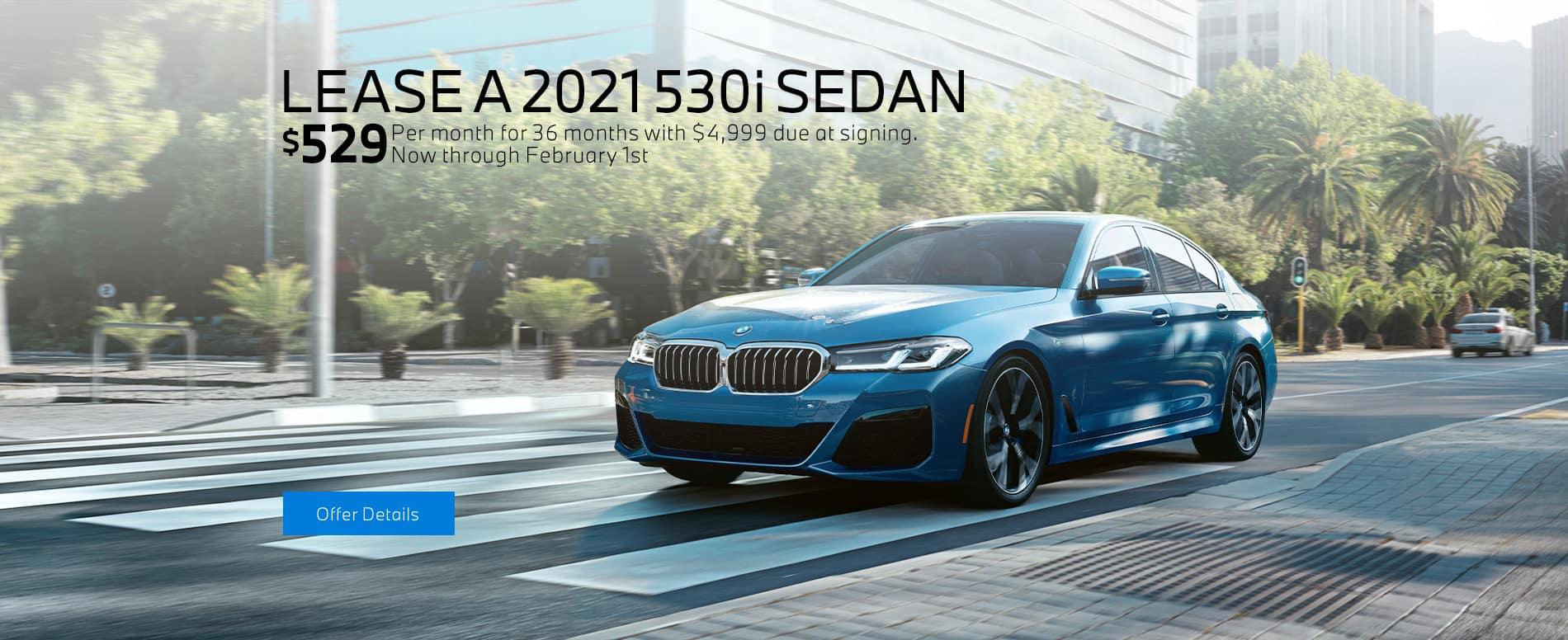 LEASE A 2021 BMW 530i SEDAN
