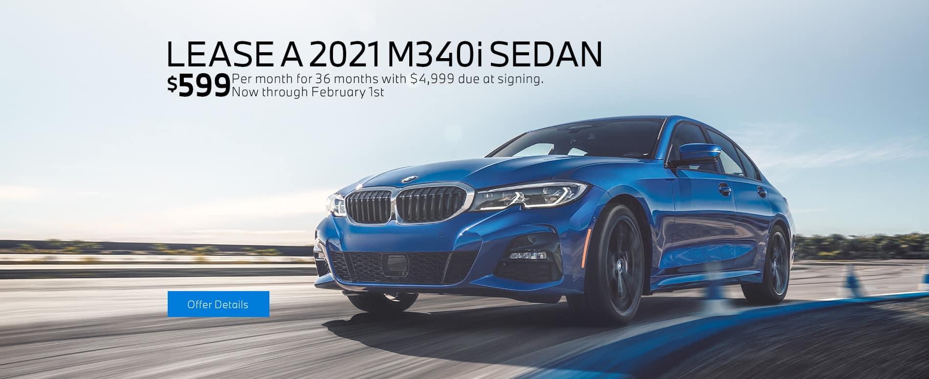 LEASE A 2021 M340i SEDAN