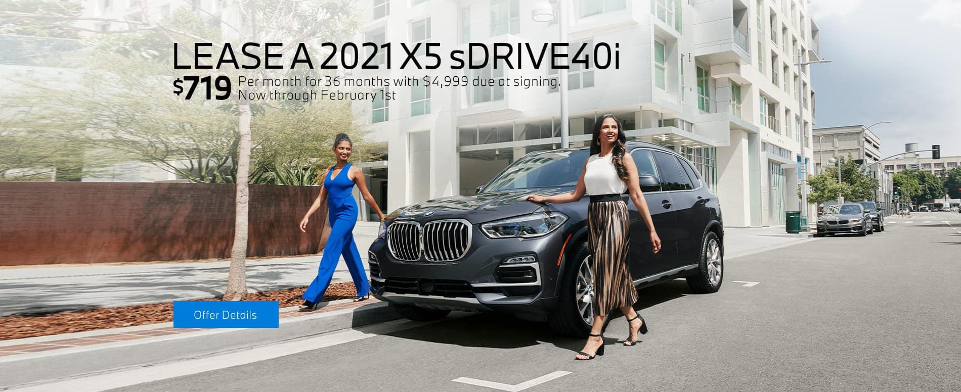 LEASE A 2021 BMW X5 sDRIVE40i