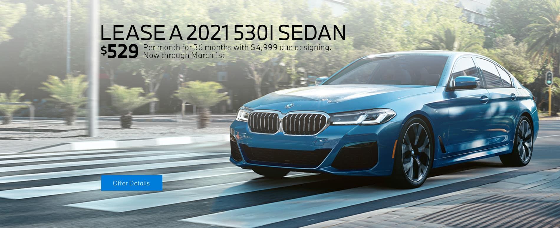 LEASE A 2021 530I SEDAN