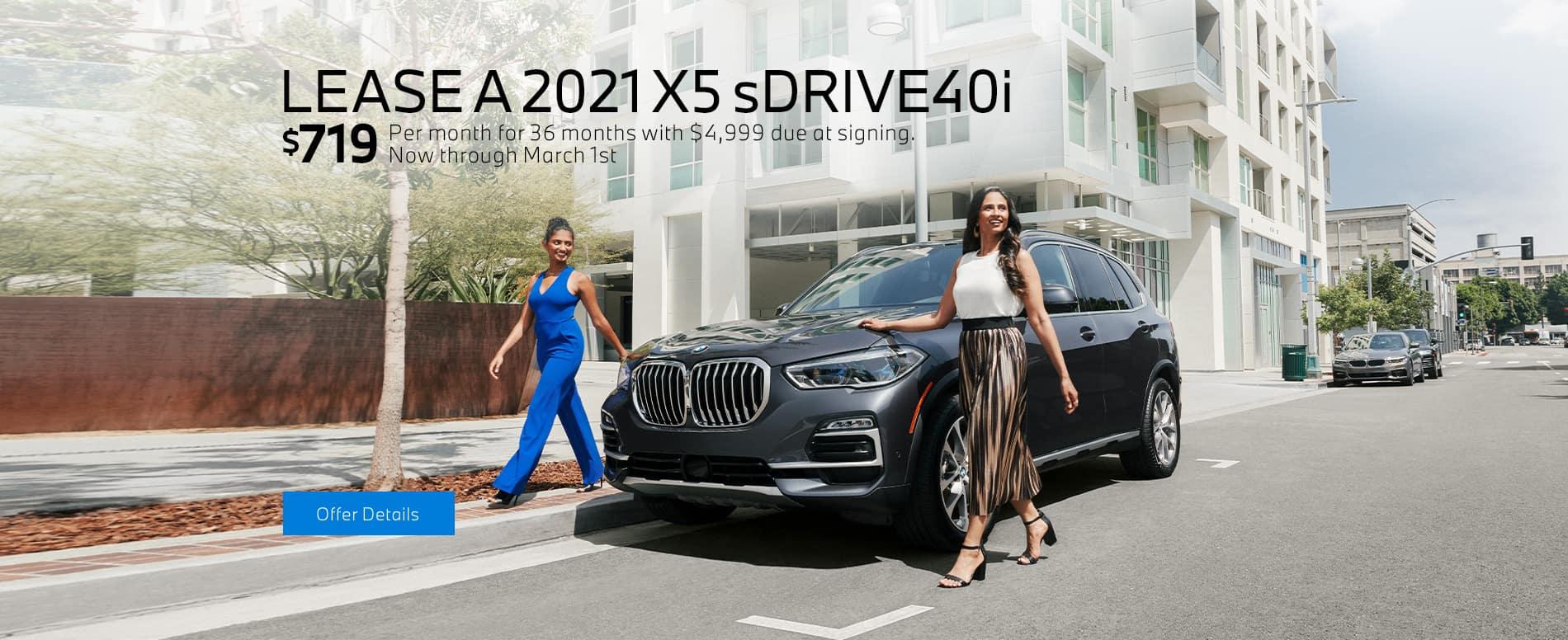 LEASE A 2021 X5 SDRIVE40I