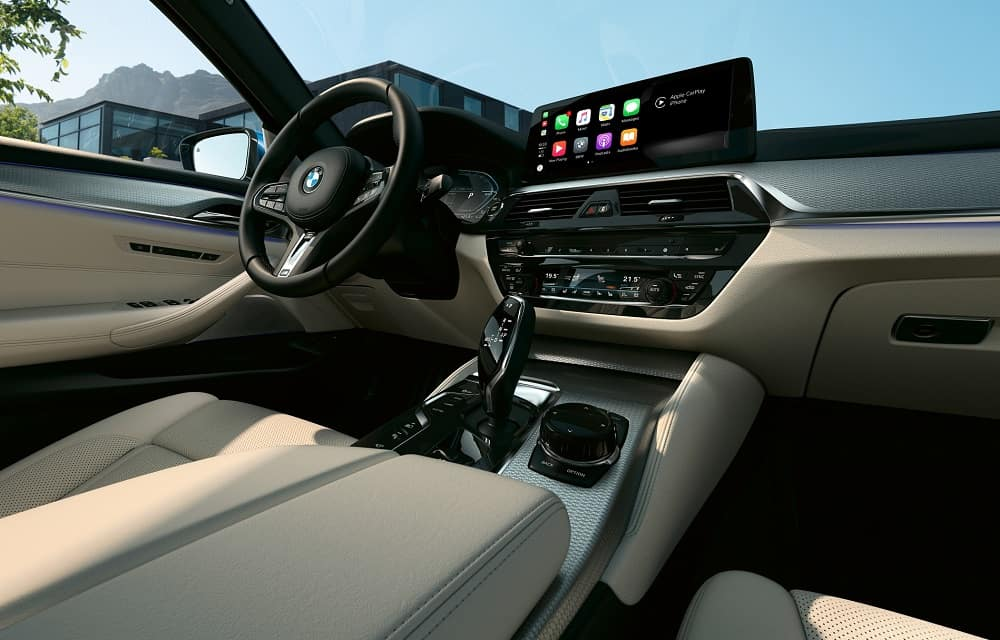 2021 BMW 5 Series Interior Featuring a 12.3-inch multimedia touchscreen display
