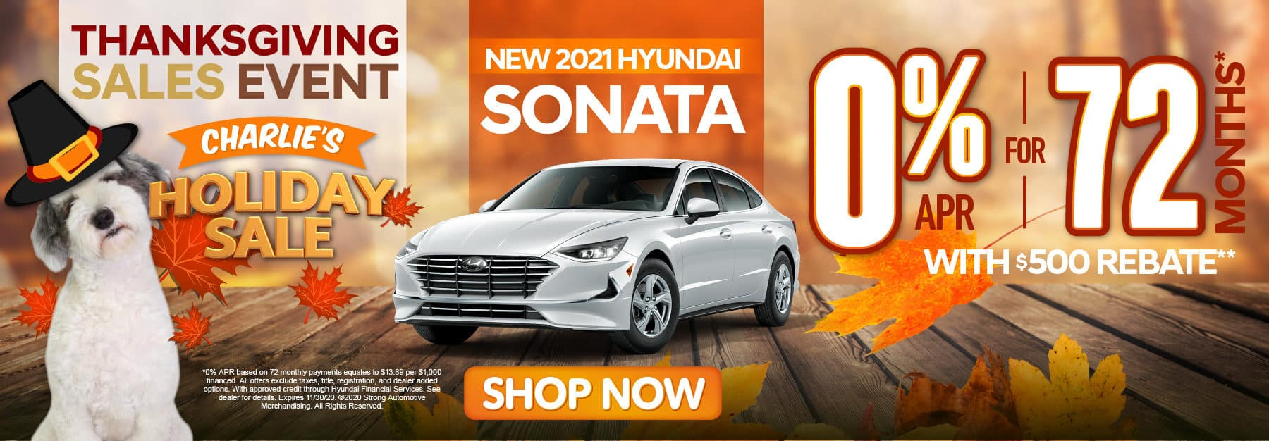 New 2021 Hyundai Sonata 0% APR for 72 months - click here to view inventory