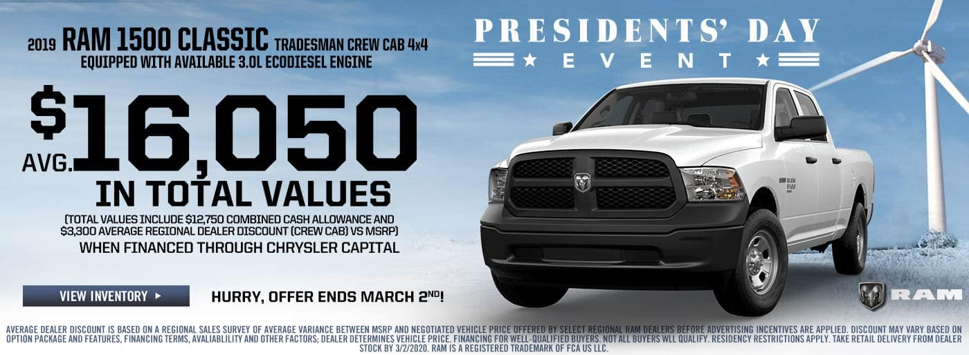 RAM 1500 Classic Presidents' Day Sale Price