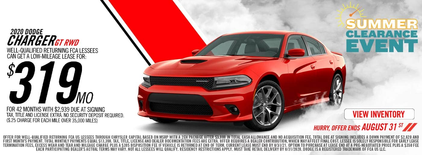 Dodge Charger Lease Price Special