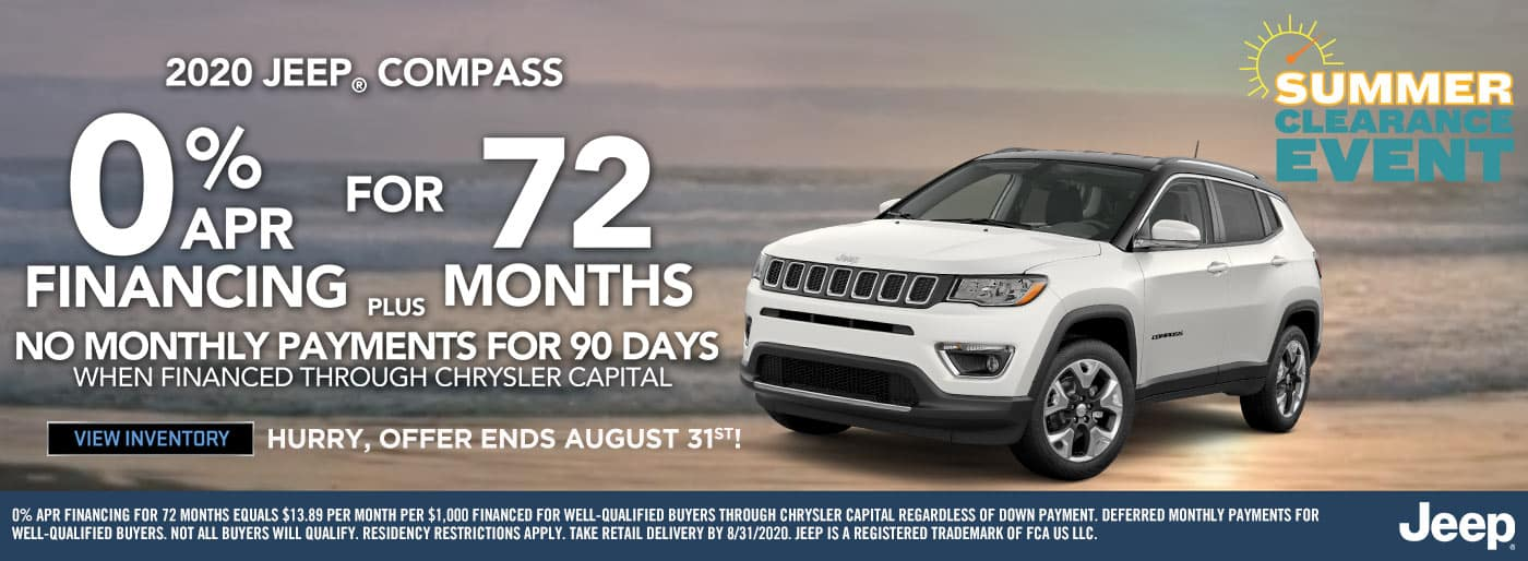 Jeep Compass Low Interest Rate