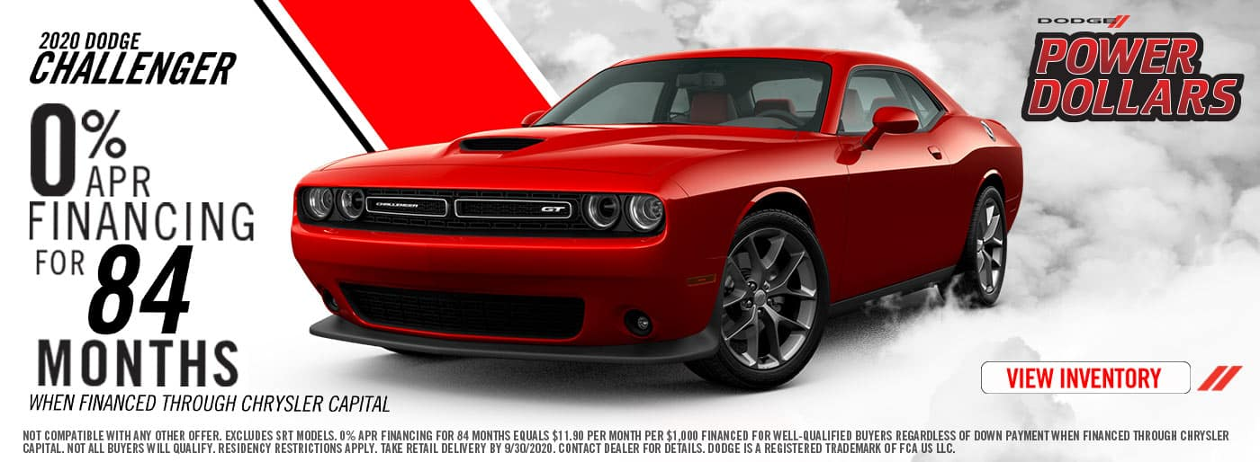 Dodge Challengers 0% APR Financing for 84 Months