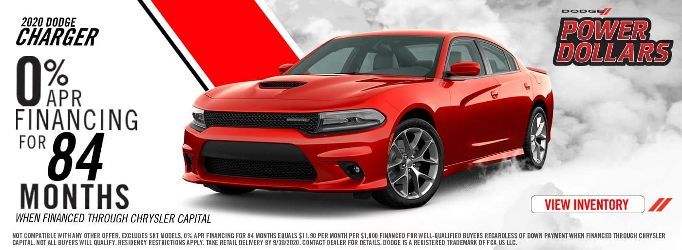 0% APR Financing for 84 Months on Dodge Chargers