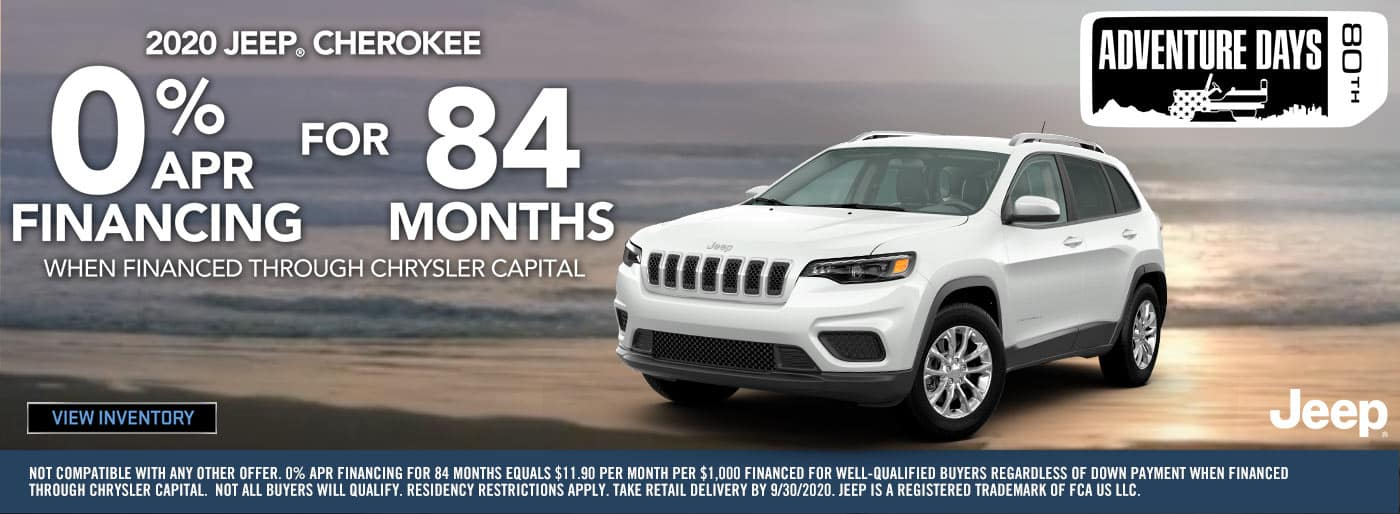 0% APR Financing for 84 Months on Cherokees