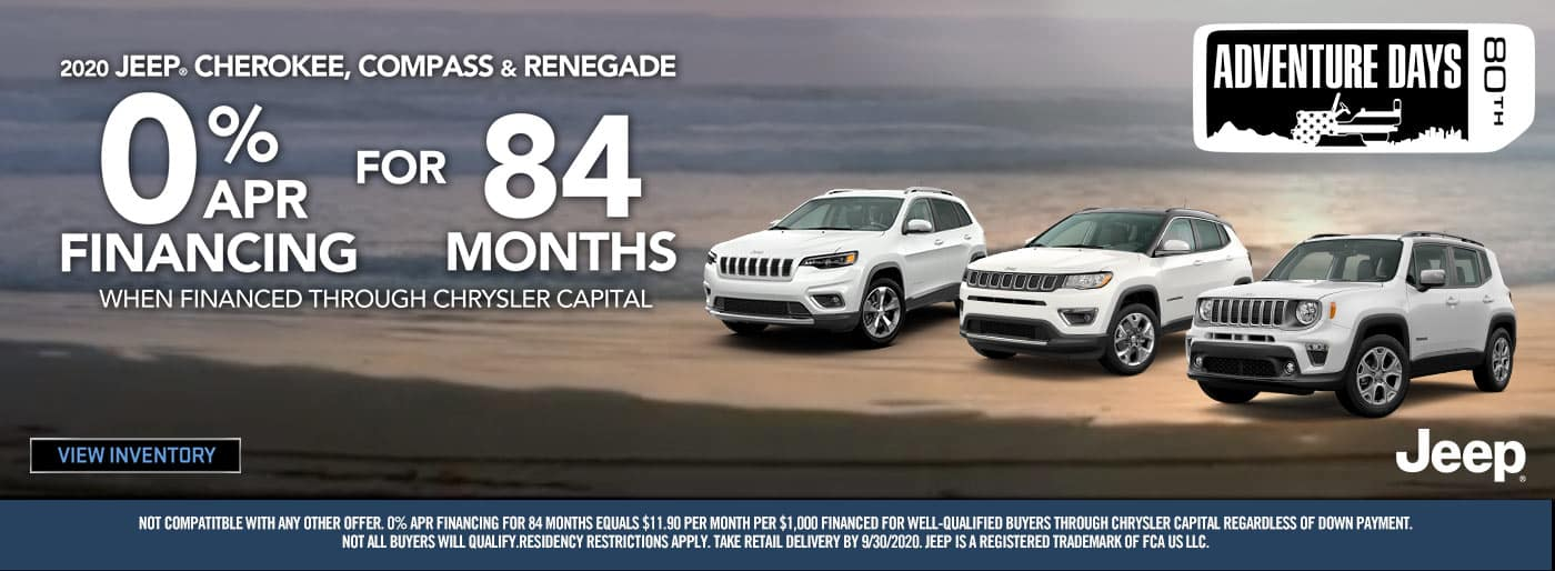 0% for 84 Months On Jeep Models