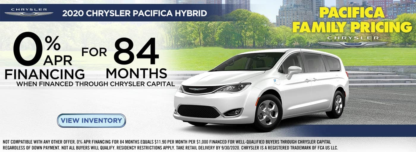 0% APR Financing on Chrysler Pacifica Hybrids