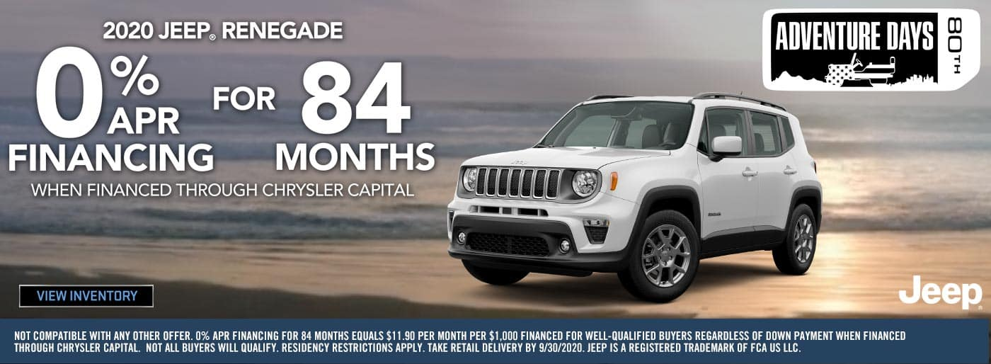 Jeep Renegade Finance 0% APR