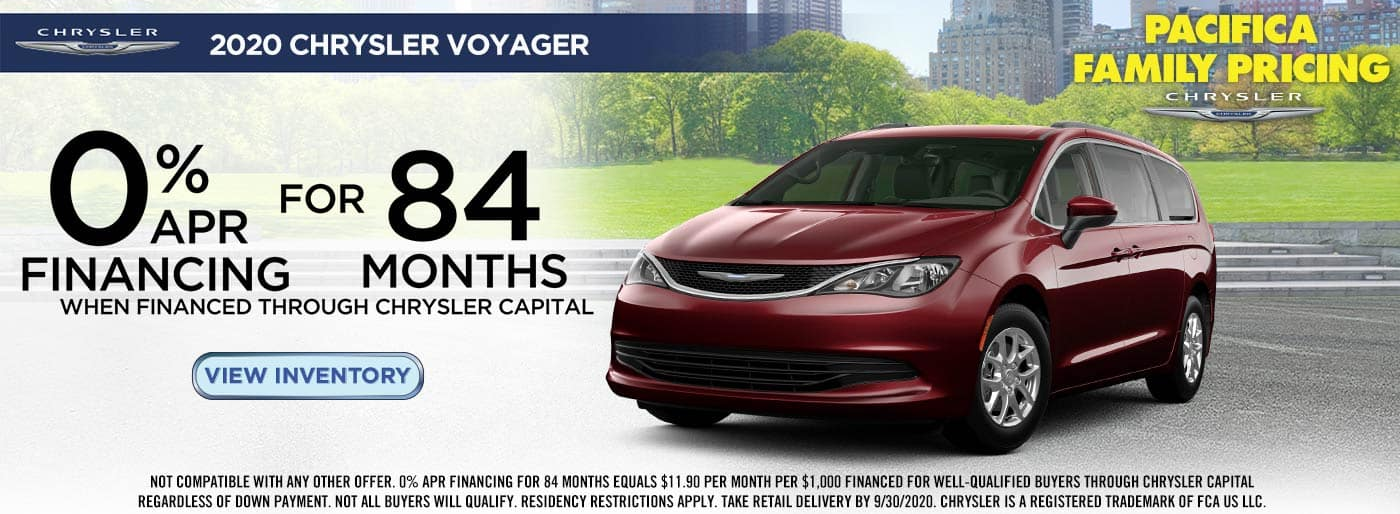 Chrysler Voyager 0% APR Financing offer in Auburn, WA