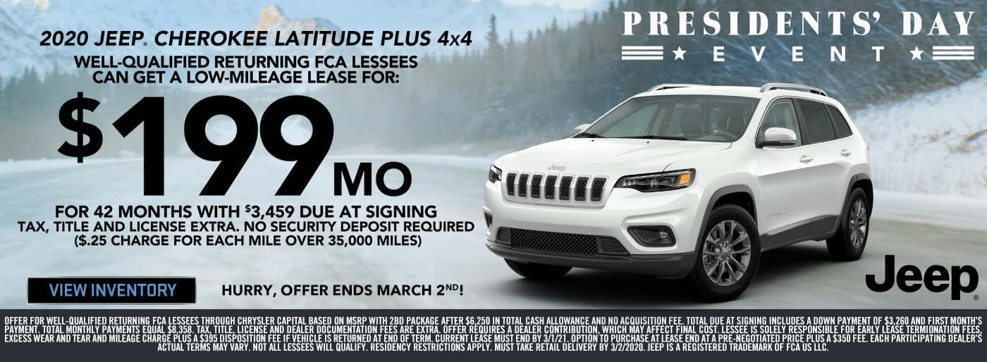 Jeep Cherokee Presidents' Day Sale