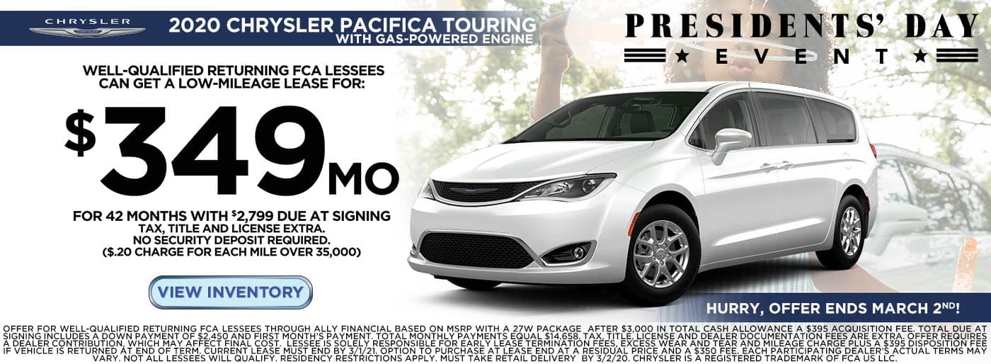 New Chrysler Pacifica Lease Price in Moses Lake, WA