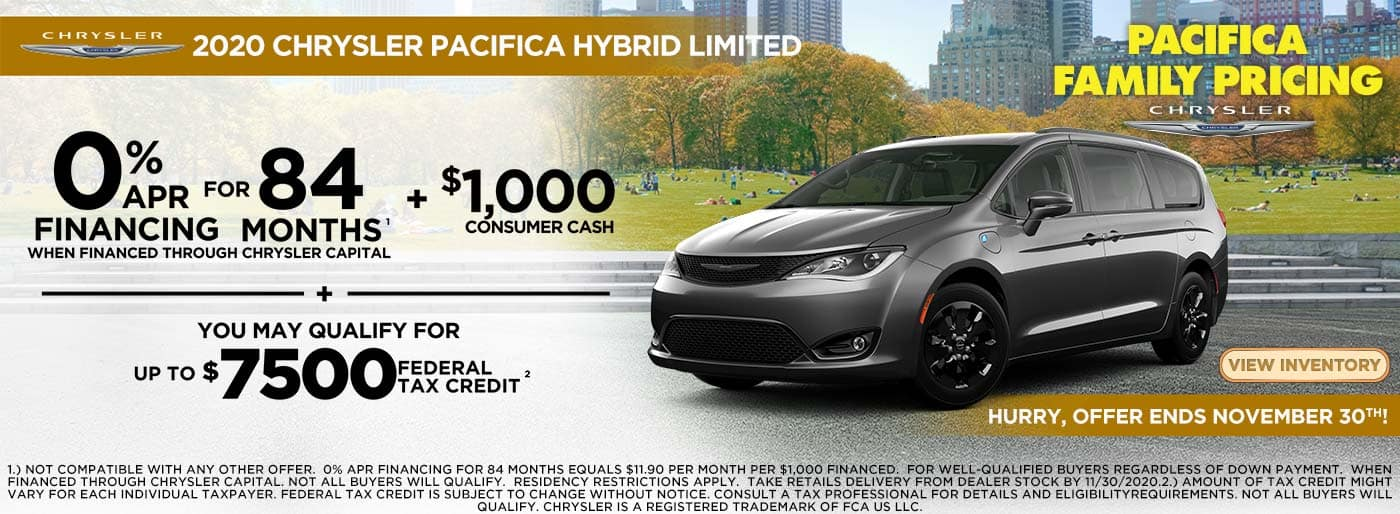 0% APR for 84 Months on Pacifica