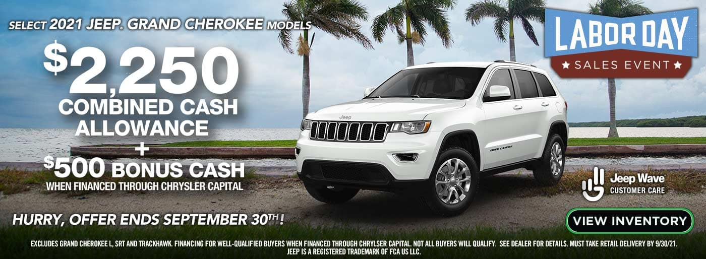 Labor Day Grand Cherokee Bonus Cash Event